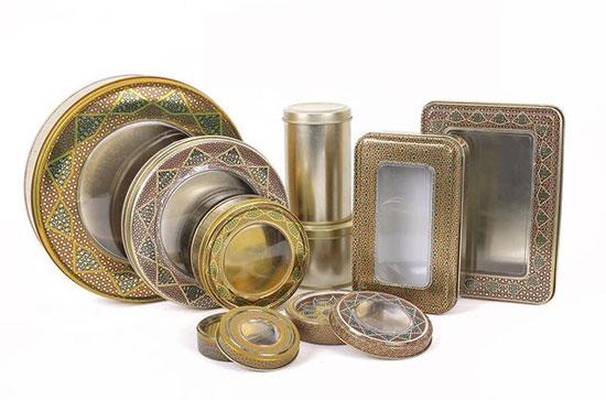 انواع ظروف و قوطی فلزی زعفران طرح خاتم