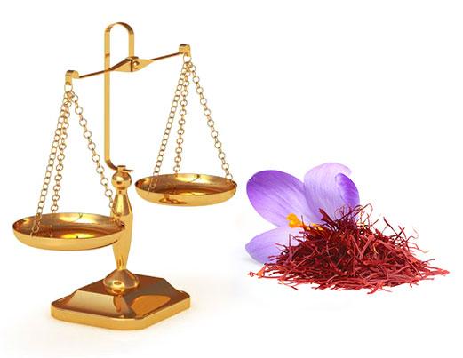 وزن مناسب بسته بندی زعفران