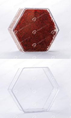 ظروف زعفران پلی کریستال شش ضلعی