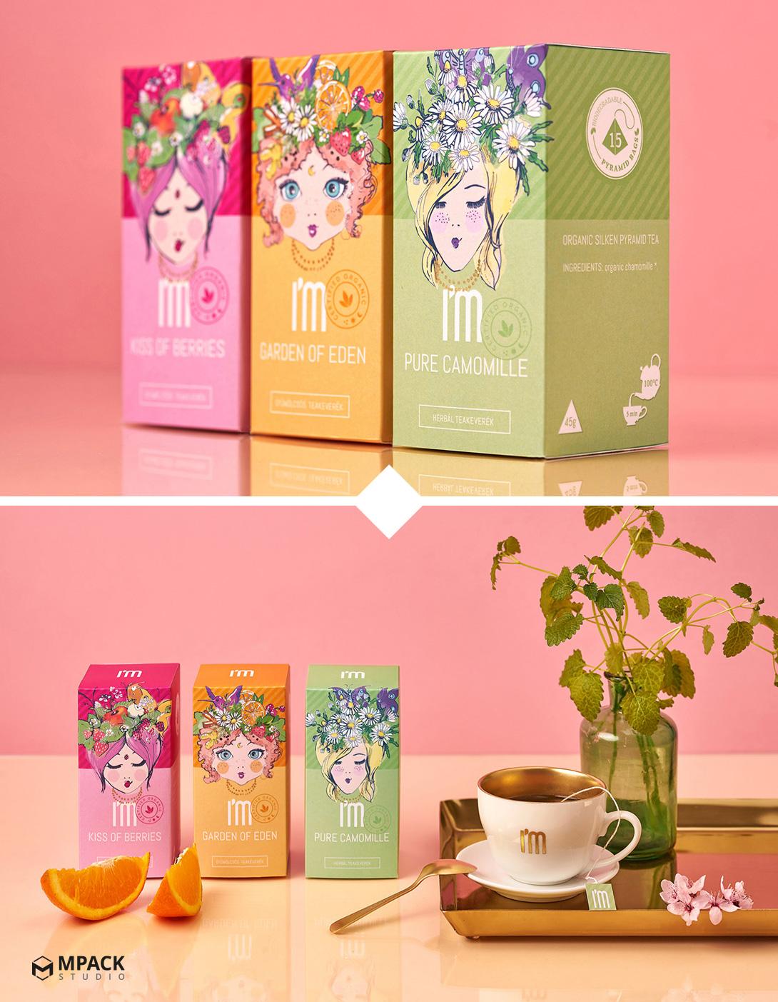 طراحی بسته بندی دمنوش و چای